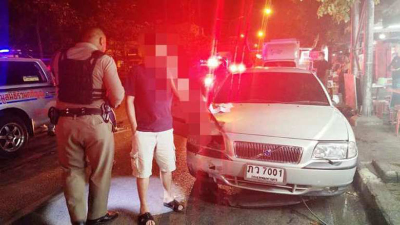 Drink-driving professor crashes, injures 2 police and elderly woman