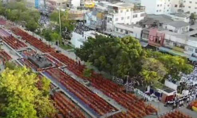 Thousands gather for merit-making ceremony in Korat | The Thaiger