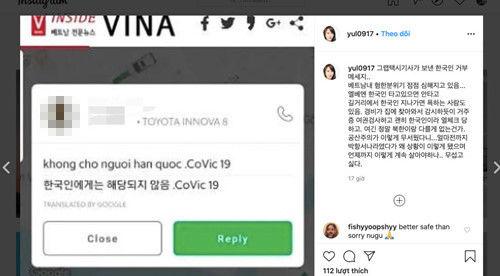Sau câu chuyện 'bánh mỳ' lại thêm nữ diễn viên người Hàn gây bão vì bị kỳ thị ở Việt Nam giữa dịch corona   News by Thaiger