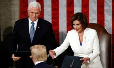 Nancy Pelosi, Chủ tịch Hạ viện Mỹ, xé bài phát biểu của Tổng thống Trump | Thaiger