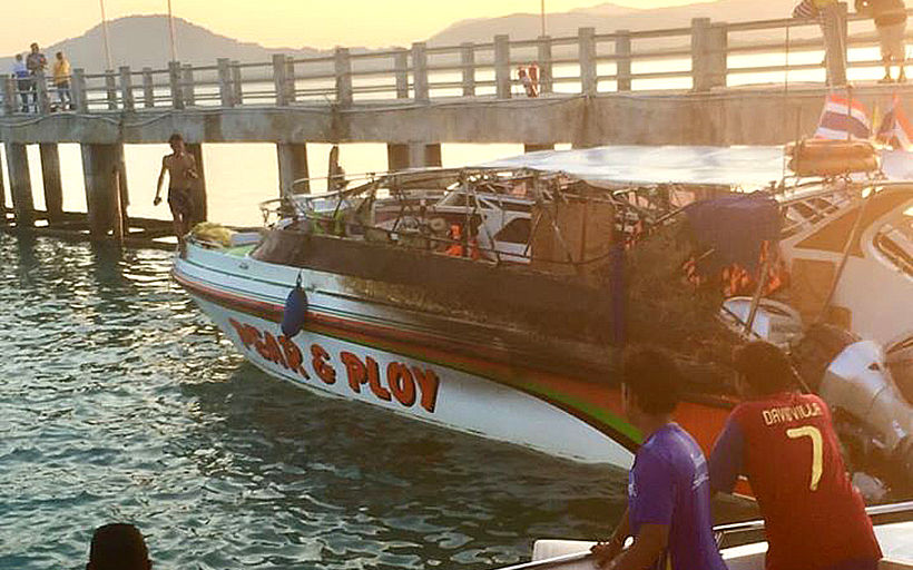 2 speedboats destroyed by fire in Phuket – VIDEO | Thaiger