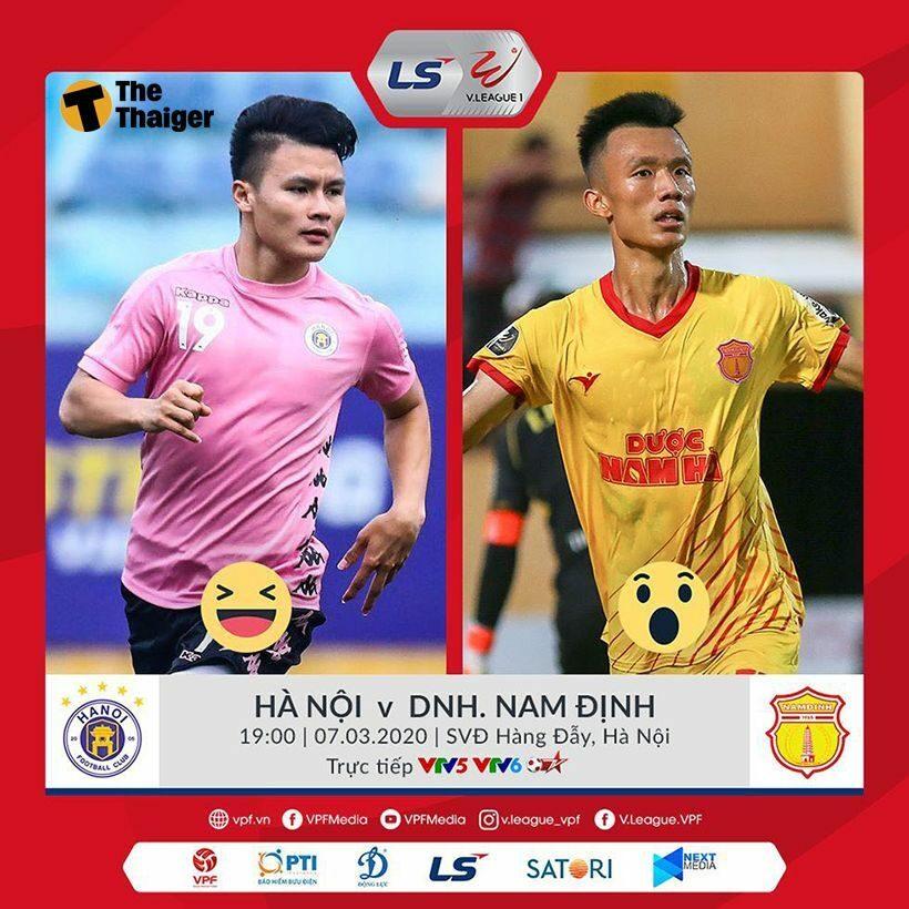 Hà Nội FC vs DNH Nam Định: Vòng 1 LS V-League 2020 – 19h00 ngày 07/03/2020 – Nhà vua xuất quân | Thaiger