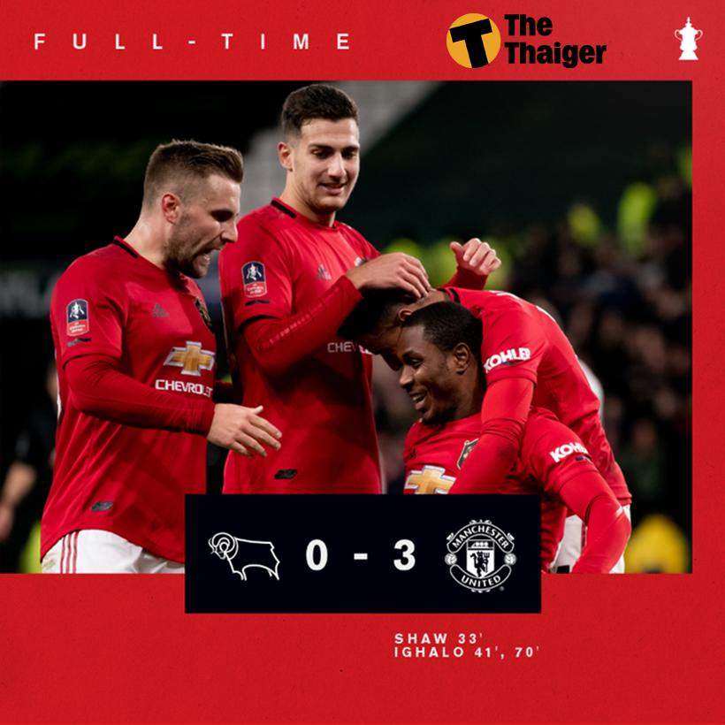 Highlight trận Derby County vs Manchester United: Ighalo tỏa sáng đưa Man United vào tứ kết Cúp FA | Thaiger
