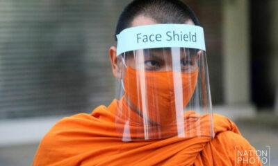 Bangkok monks now sporting bespoke facemasks | The Thaiger