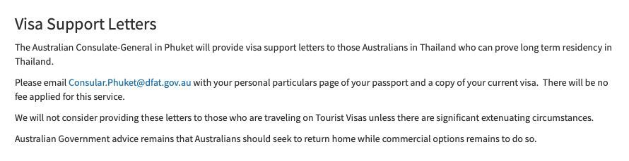 Australian consul general in Phuket confirms letters for stranded Aussie expats | News by Thaiger