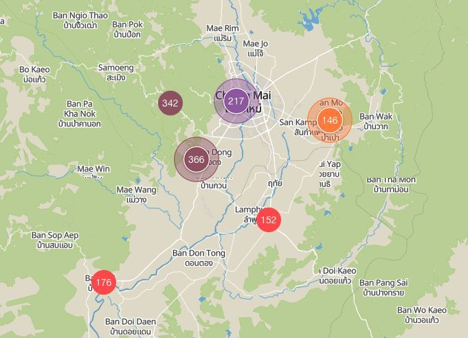 Chiang Mai smog reaches dangerous levels - 12 x 'safe' levels   News by Thaiger