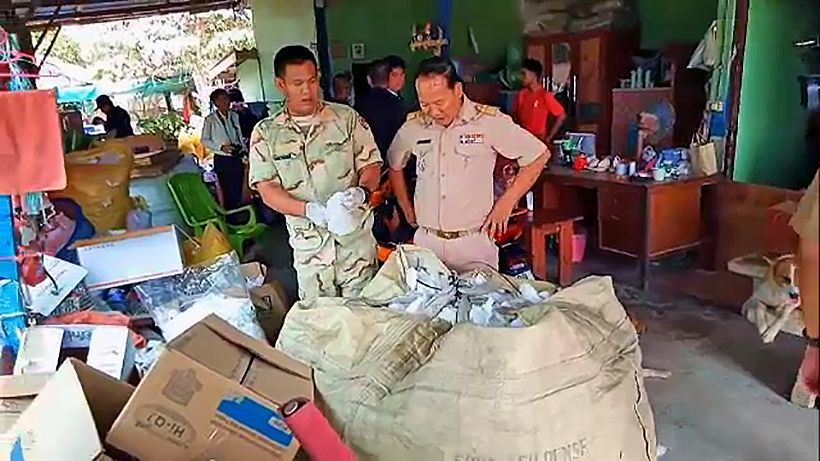 Central Thai junk shop raided for recycling tens of thousands of face masks   Thaiger