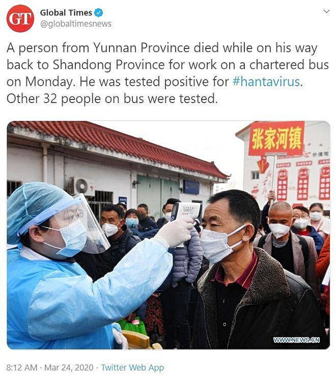 Virus corona chưa qua, virus hanta đã tới: Vụ tử vong trên xe khách vì virus hanta ở Trung Quốc có đáng lo ngại?   News by Thaiger