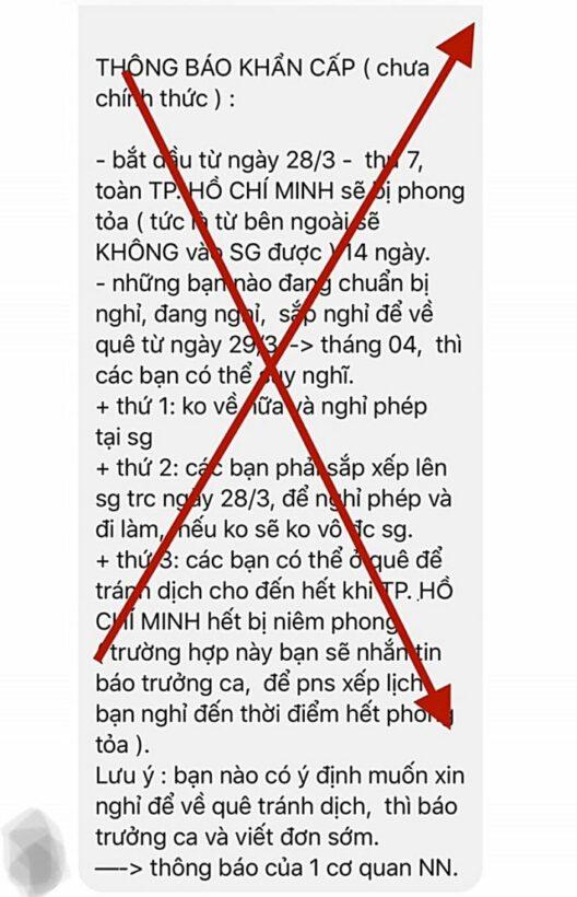 Tình hình COVID-19 tại Việt Nam: Thông tin phong tỏa TP HCM là bịa đặt!   News by Thaiger