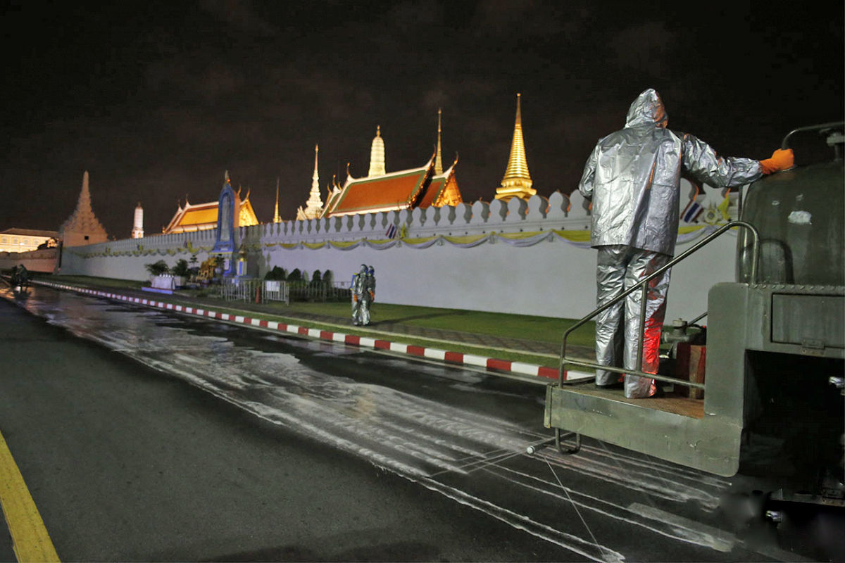 Army disinfecting Bangkok streets   News by Thaiger