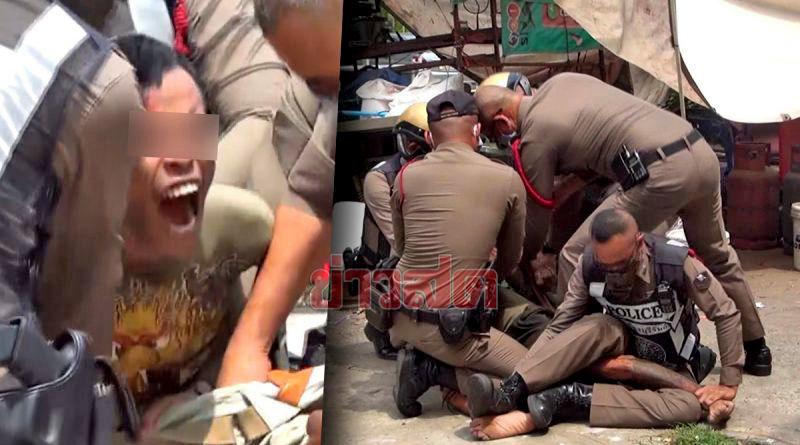 Buriram police officer injured as knife-wielding man has meltdown   News by Thaiger