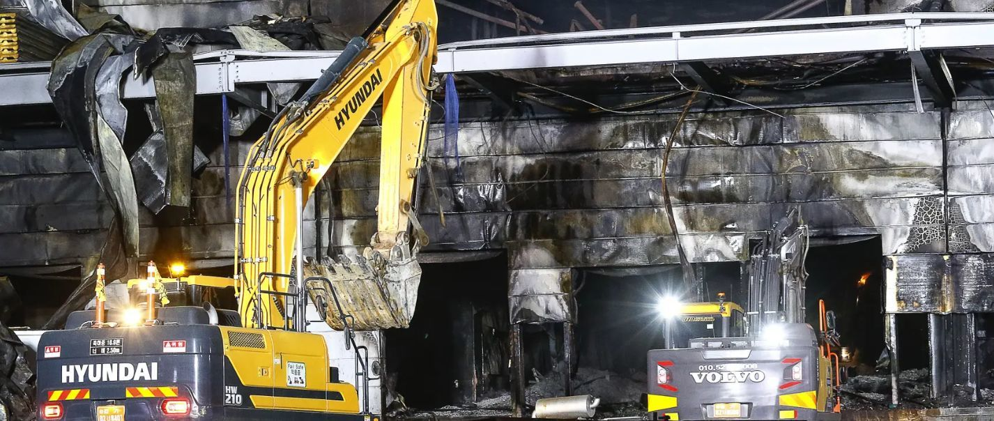 South Korean fire kills 38 workers - VIDEO   News by Thaiger