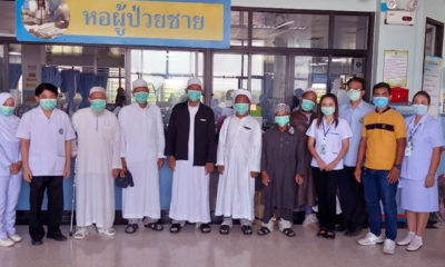 6 Covid-19 recovered patients head home to their families | The Thaiger