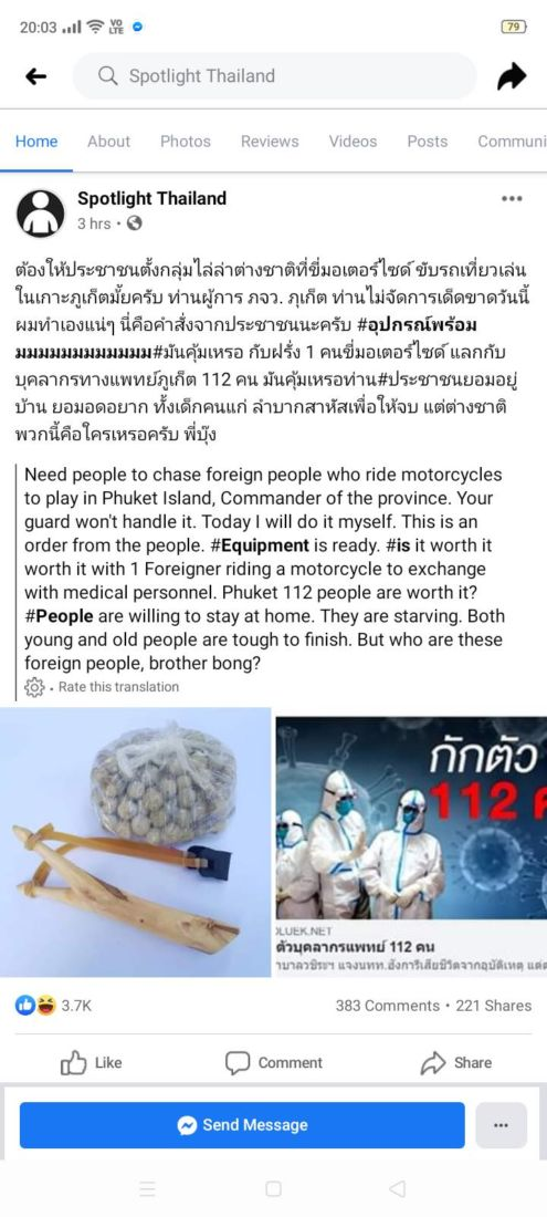 Facebook page advocates violence against 'shit tourists' in Phuket | News by Thaiger