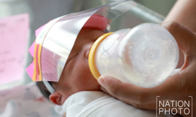 Newborns get extra protection with mini-face shields | Thaiger