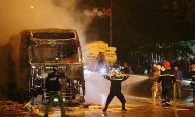 Hà Nội: Xe tải 38 tấn bốc cháy ngùn ngụt | The Thaiger
