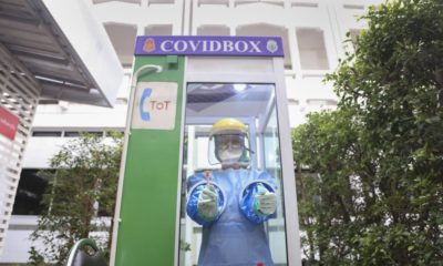 Phone booths get new lease on life as 'Covid boxes' | The Thaiger