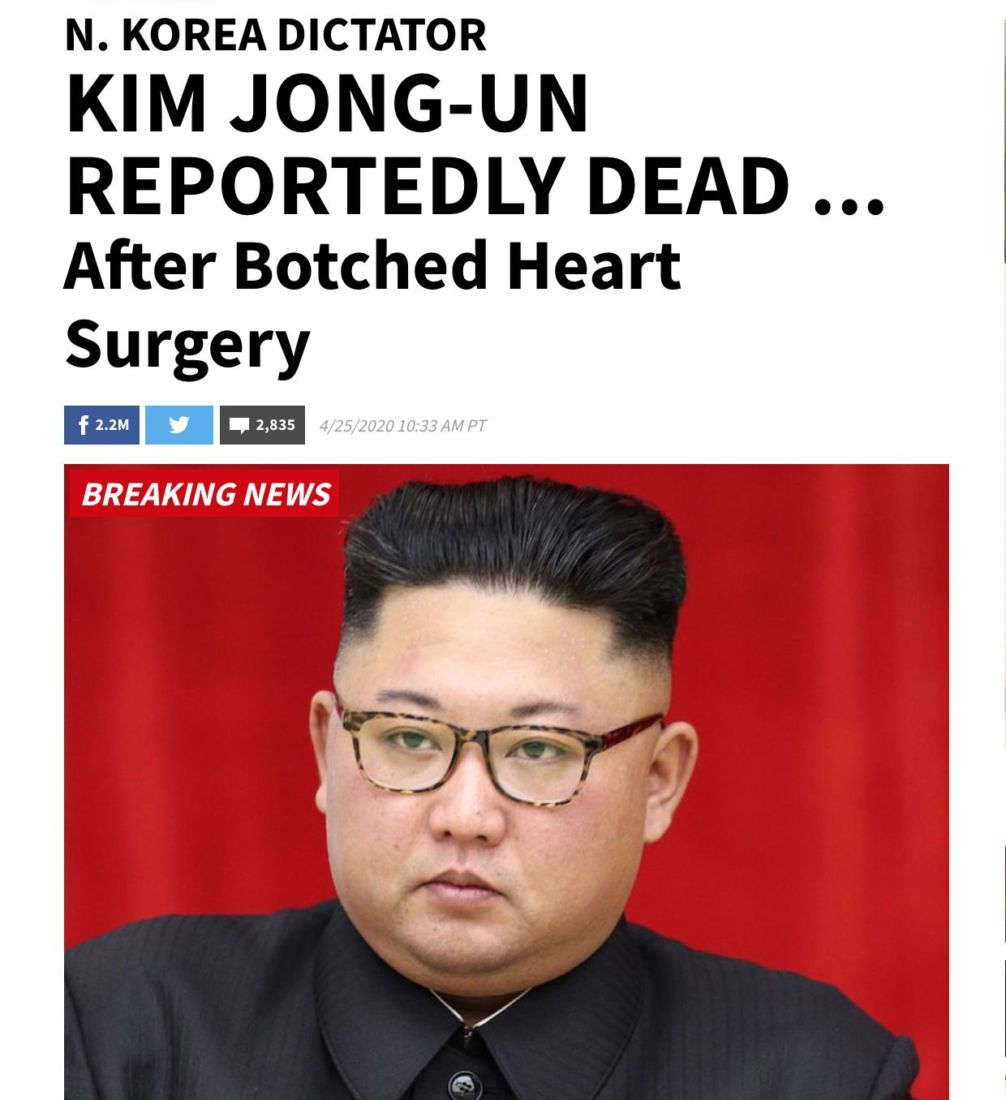 North Korean leader reportedly in