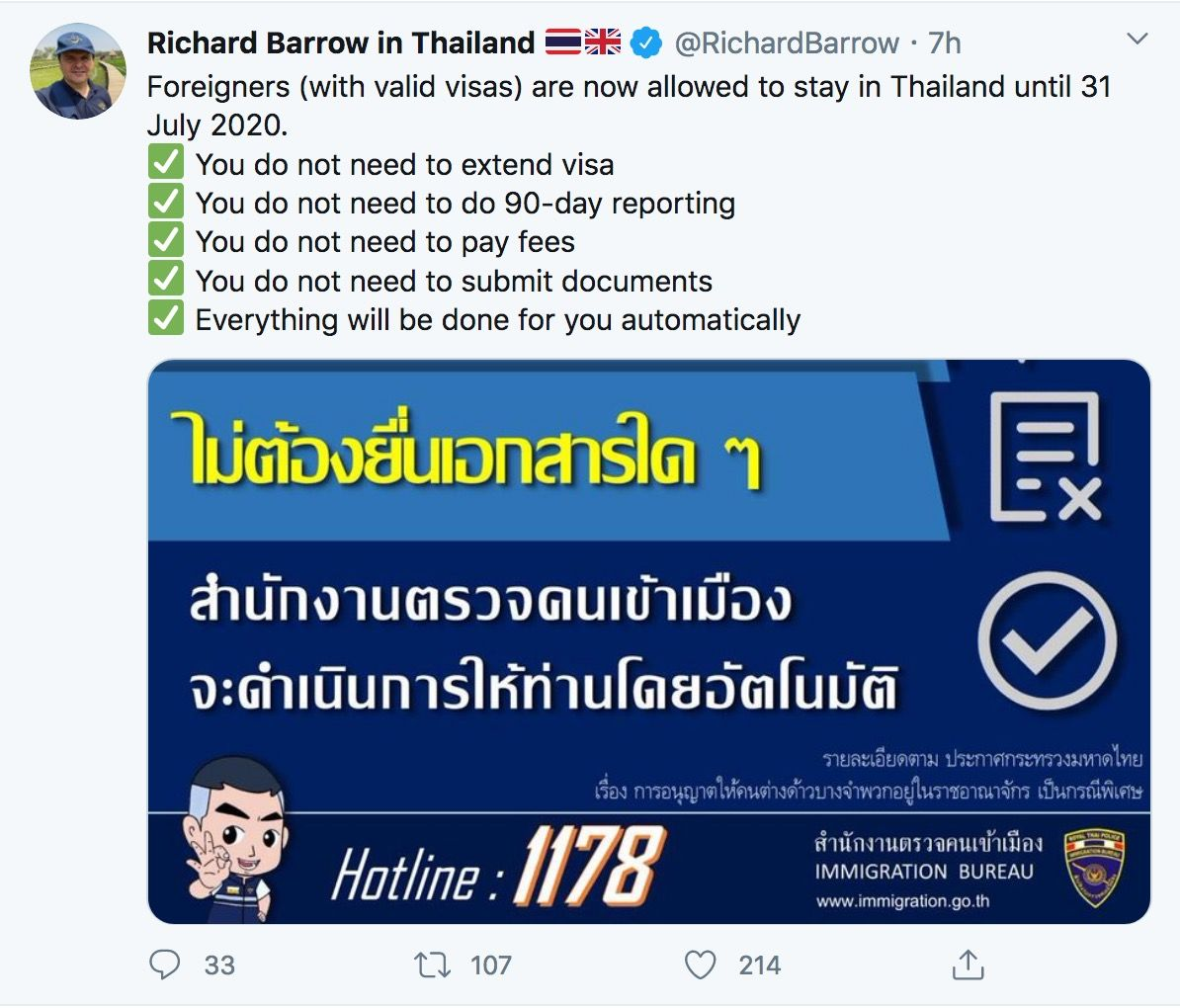 Second visa amnesty approved, will be automatic, free   News by Thaiger
