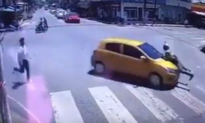 Police officer clings to hit-and-run car for 2 kilometres – VIDEO | Thaiger