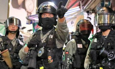 Hong Kong riot police quarantined | The Thaiger