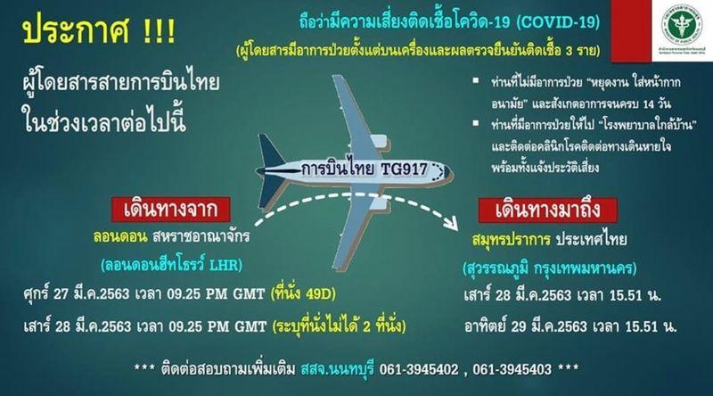 Passengers on 2 Thai Airways flights from London test positive for coronavirus   News by Thaiger