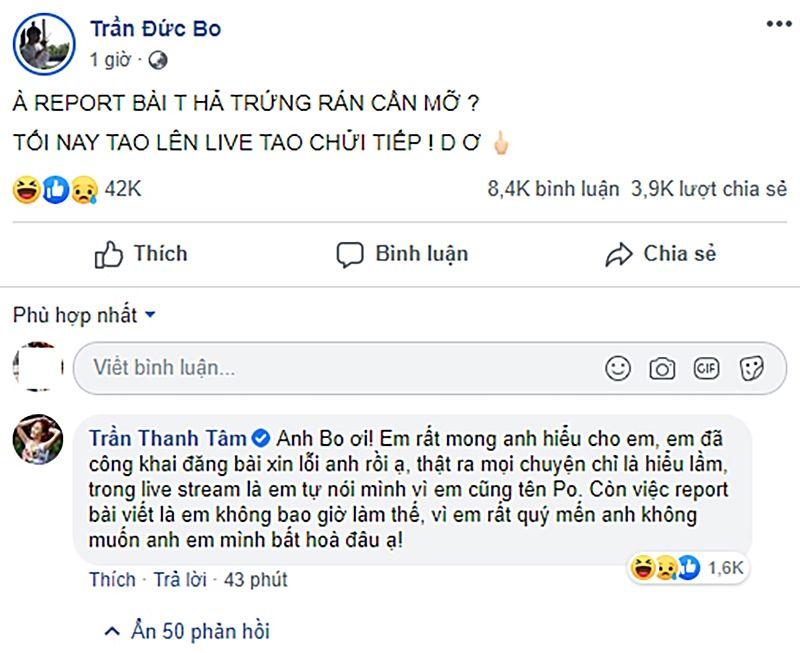 Vụ đại chiến song Trần: Trần Đức Bo dọa đánh hotgirl 'trứng rán cần mỡ' nếu không được Trần Thanh Tâm xin lỗi   News by Thaiger