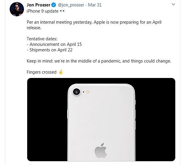 iPhone 9 sẽ ra mắt vào ngày 15/4?   News by Thaiger