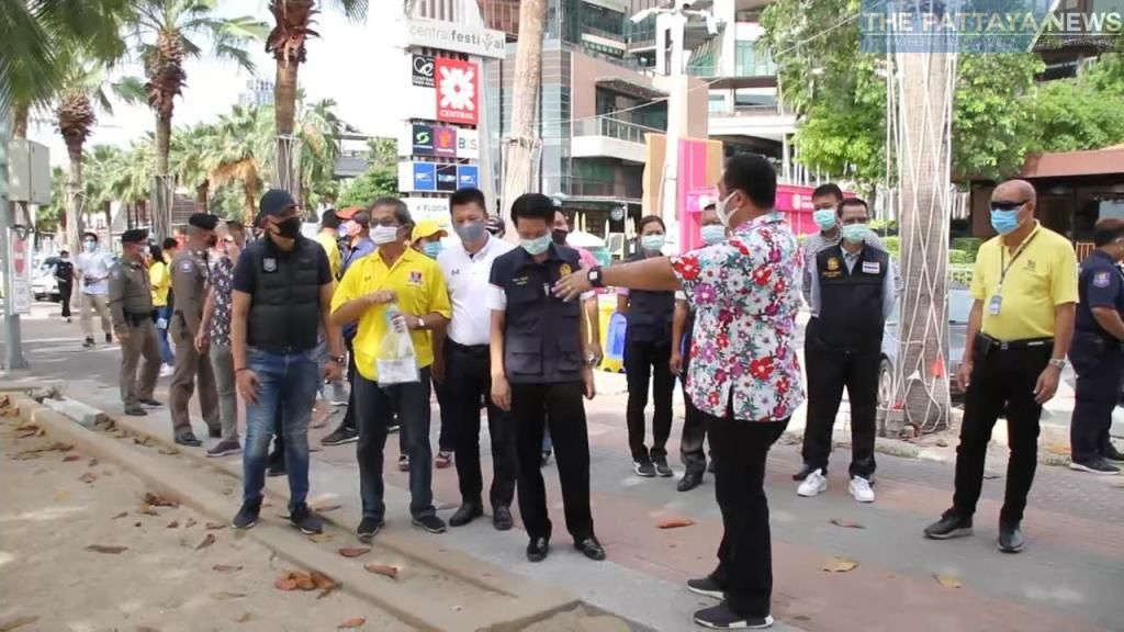 Pattaya officials inspect beaches for compliance with closure order   News by Thaiger