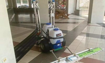 Agricultural robot modified to provide biohazard clean-ups | Thaiger