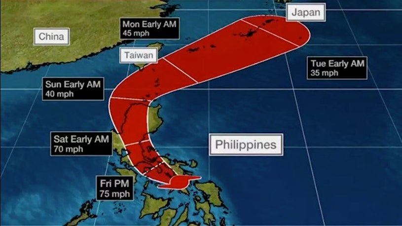 Vongfong, aka. Ambo, barrels into Philippines' east coast   News by Thaiger