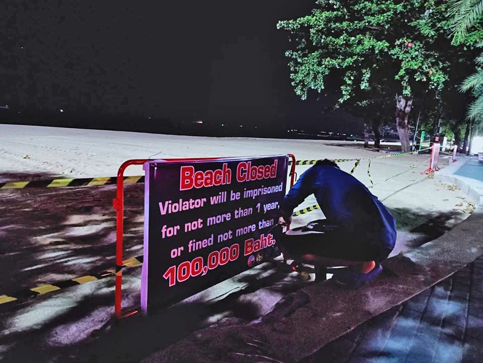 Pattaya's beaches are still a 'no go' area this month   News by Thaiger