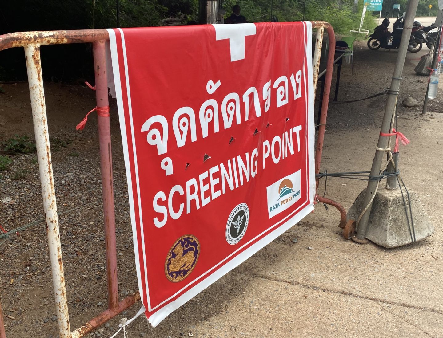 Gang raids virus screening checkpoint and empties community pantry   The Thaiger