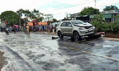 Bình Thuận: Ô tô tông liên hoàn 3 xe máy khiến 1 người chết, 5 người bị thương | Thaiger
