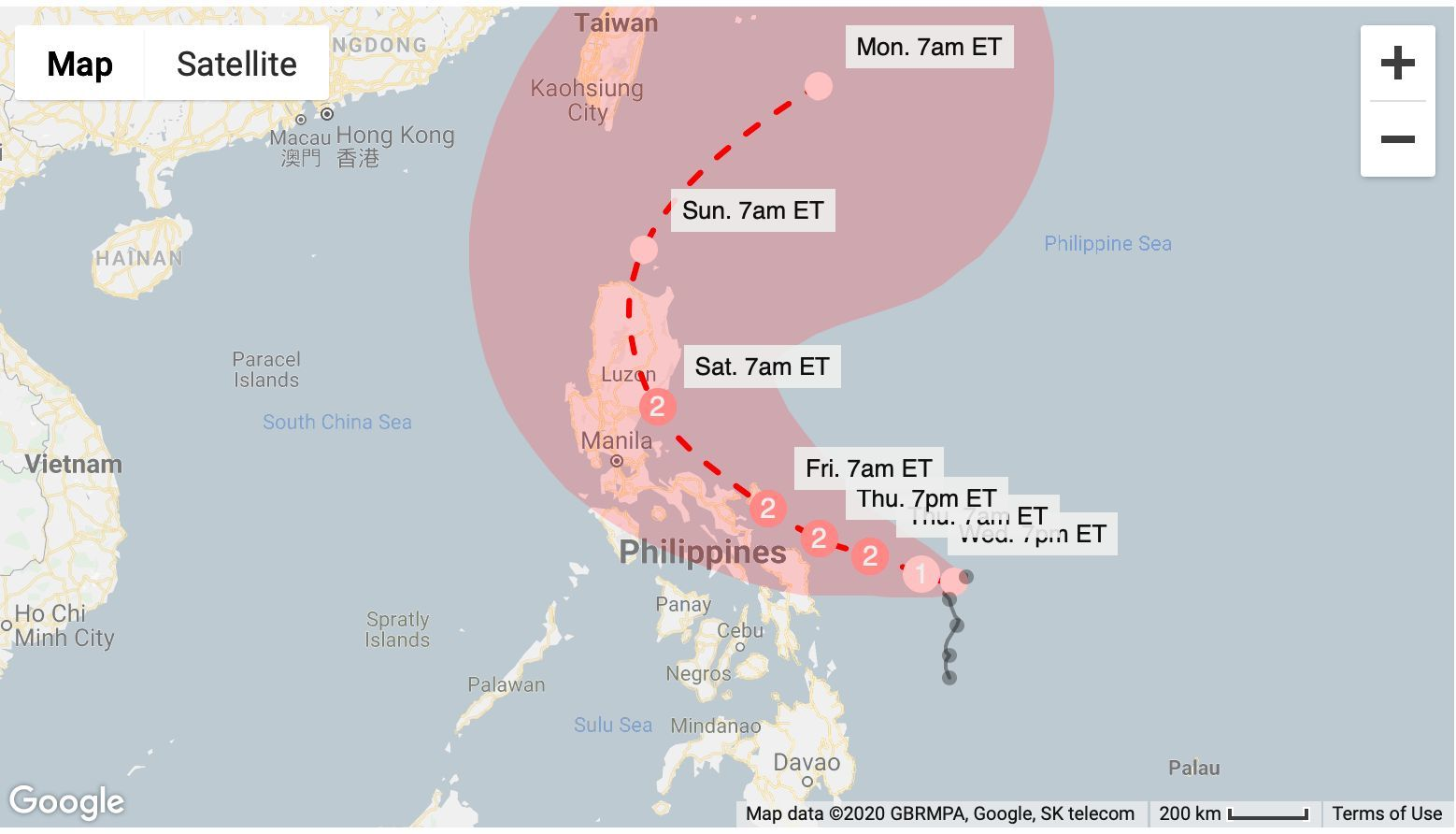 'Vongfong' heads northwest along Philippines coast   News by Thaiger