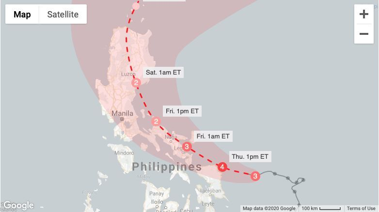 Typhoon Vongfong closes in on the Philippines, hits coast later today | News by Thaiger