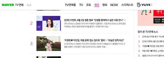 Thông tin Lee Yeon Hee bất ngờ kết hôn lọt top Naver   News by Thaiger