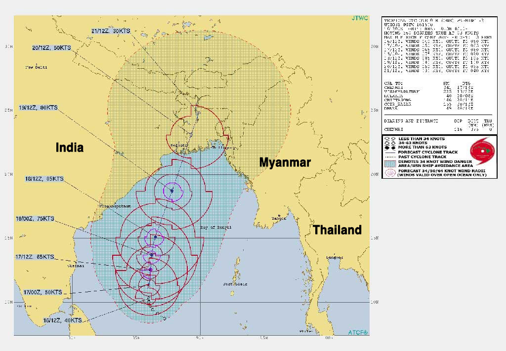 Southern provinces face heavy rains from Cyclone Amphan | News by Thaiger