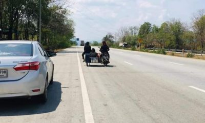 Thai family heads out on a 1,000 kilometre trek on clapped-out motorbike | Thaiger
