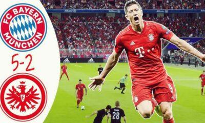Highlight trận đấu Bayern vs Frankfurt: Bayern Munich tái lập khoảng cách 4 điểm với Dortmund | The Thaiger