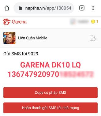 Liên quân Mobile: Hướng dẫn nạp thẻ bằng tin nhắn SMS | News by Thaiger