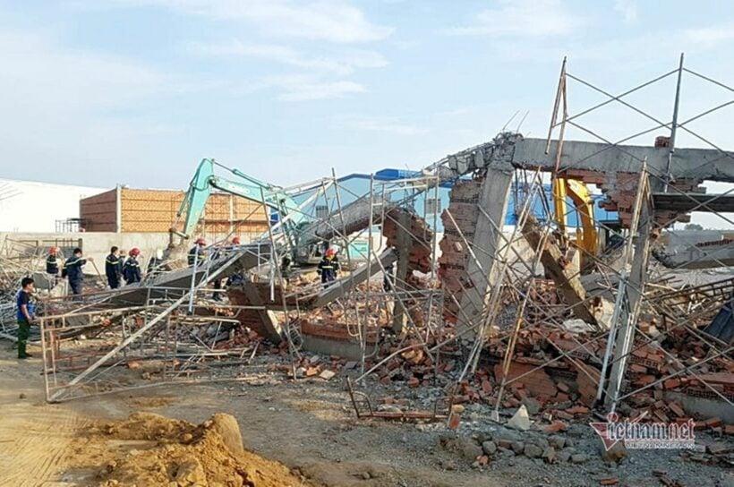 Vụ sập tường khiến 10 người chết tại Đồng Nai: Bắt giữ giám đốc đơn vị thi công   News by Thaiger
