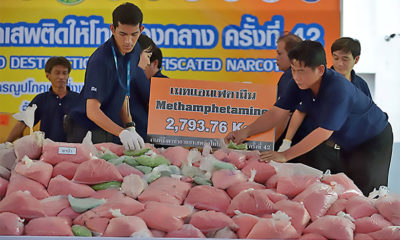Alleged drug runner busted with methamphetamines valued at 18 million baht   The Thaiger