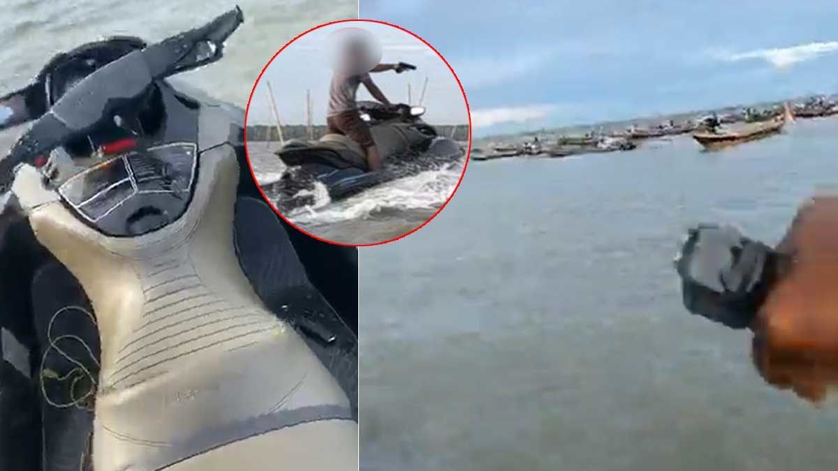Man rides in on jet ski, fires shots as hundreds raid his illegal shellfish farm – VIDEO | The Thaiger