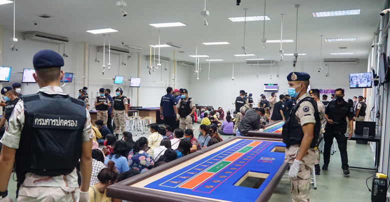 Hundred arrested in illegal Rayong casino raid   The Thaiger