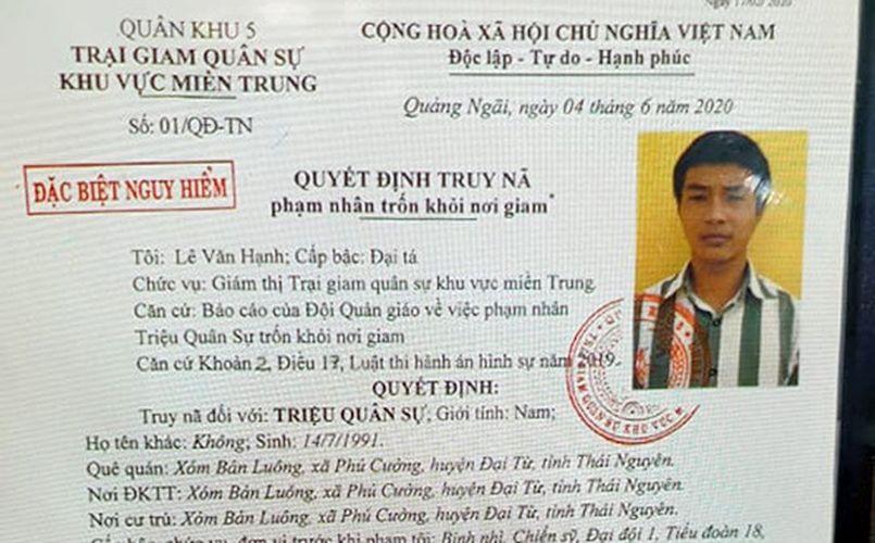 Quảng Ngãi: Truy nã Triệu Quân Sự - Phạm nhân giết người đặc biệt nguy hiểm vượt ngục lần hai tiếp tục gây án | News by Thaiger