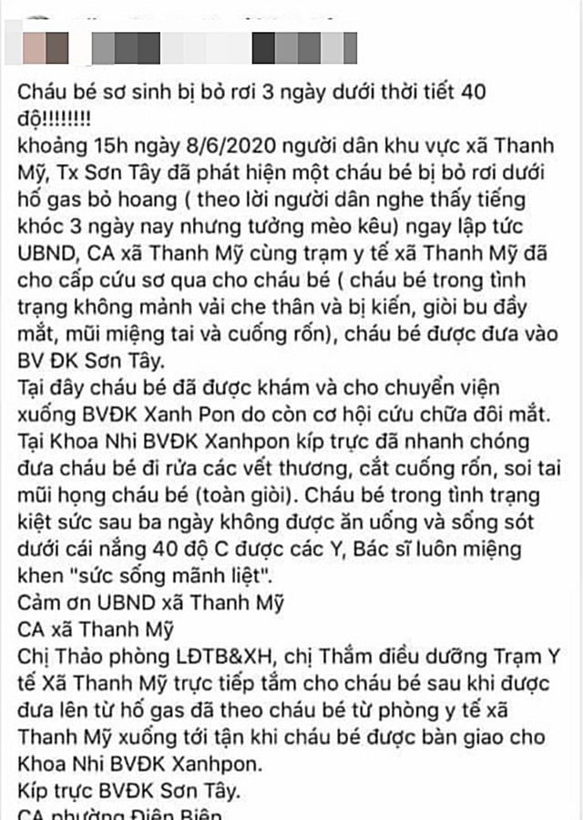 Bé sơ sinh bị bỏ rơi 3 ngày giữa nắng nóng 40 độ tại Hà Nội | News by Thaiger