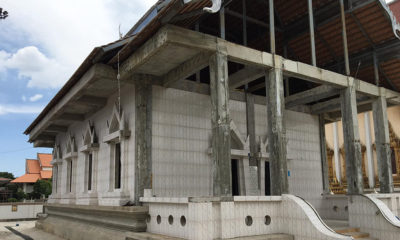 Thai historians aghast as faux-marble floor tiles used to renovate 300 year old temple | Thaiger