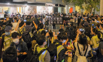 Covid restrictions ignored in Hong Kong as hundreds of protesters take to the streets | The Thaiger