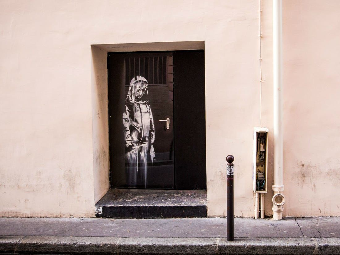 Six arrested over stolen Banksy artwork in Paris | News by The Thaiger